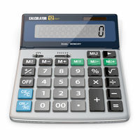 Business Calculator on white isolated background. 3d