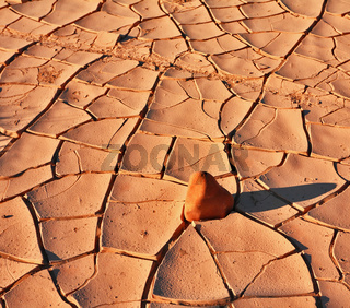 The cracked ground in National park Dead Walley