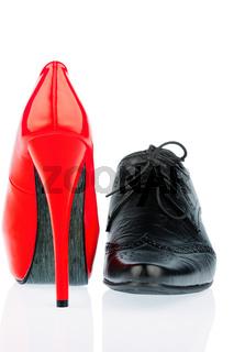 High Heels und Herrenschuh