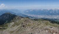Ausblick auf die Stadt Innsbruck in Tirol