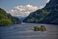 Eine Huette im Lovrafjord