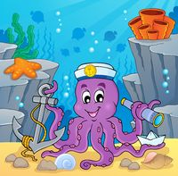 Image with octopus sailor 2 - picture illustration.