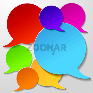 Colorful Communication Speech Bubbles White Background