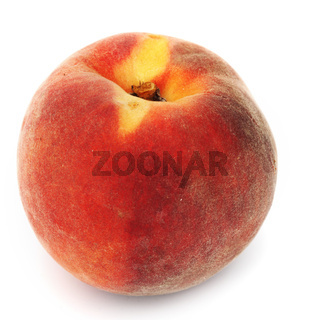 one peach isolated on white