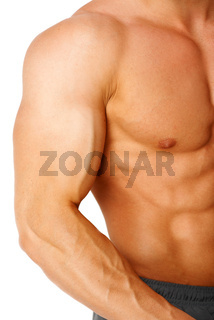 Part of muscular male body