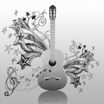 classical guitar and doodle