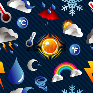 Weather icon pattern background