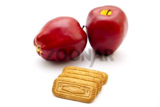 Frische Butter kekse mit Äpfel