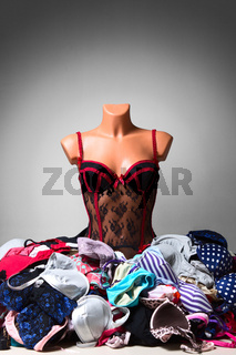 Mannequin in sexy lingerie