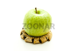 Apfel auf Keks