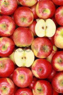 Rote Äpfel als Hintergrund
