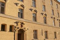 Fassade der Eisenbahnersiedlung in Laim, München