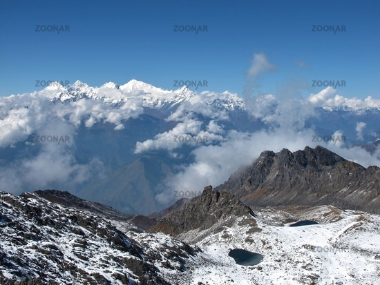 View From Surya Peak, 5145 M Altitude