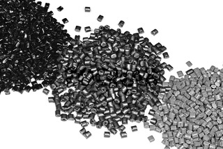 grau/silber/schwarzes Granulat