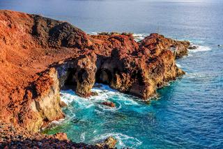 Rocks on North-west coast of Tenerife near Punto Teno Lighthouse, Canarian Islands