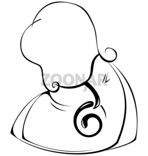 Black-and-white-contour-woman-hand-bag