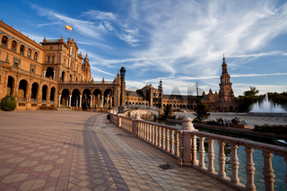 Plaza de Espana in Sevilla, Spain