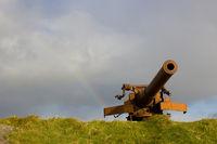 Verteidigungskanone auf den Färöer