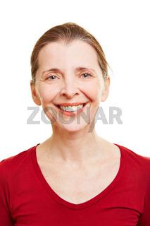 Portrait einer lachenden Seniorin