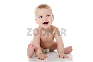The small baby isolated on white