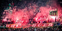 Pyrotechnik im Fanblock der Ultras von Hannover 96