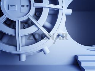bank vault door 3d
