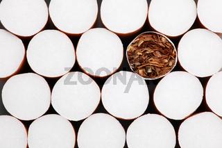 Filterzigaretten Hintergrund