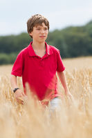 child in a wheat field