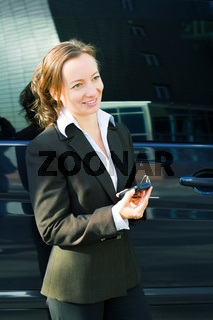Businesswoman with a mobile phone