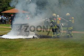 Feuerwehrübung mit Atemschutz