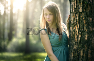 beautiful girl in fairy forest