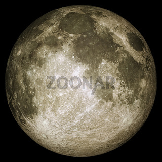 Full moon with surface details