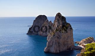 The Three Faraglioni Rocks