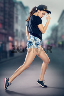 Woman hip hop dancer