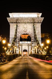 The portal of Szechenyi Chain Bridge, Budapest