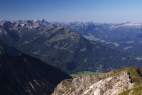 Blick vom Nebelhorn bei Oberstdorf