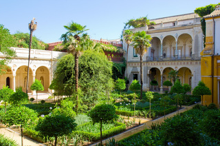 garden of Casa de Pilatos, Seville, Spain
