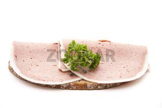 Leber Pastete auf Brot