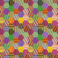 hexagonal stripes patchwork