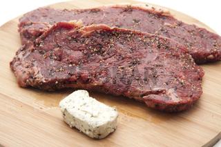 Steak mit Kraeuterbutter