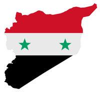 Syrien - Karten Flagge