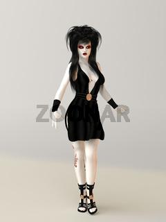 Frau im Gothicstil