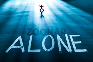 Alone concept