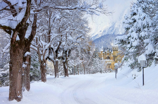 Seefeld Burg Winter - Seefeld castle in winter 01