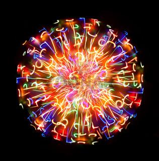 Multi-coloured light sphere