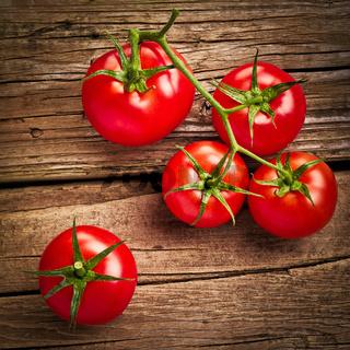 Fresh organic ripe tomatoes