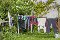 clothesline and clothes