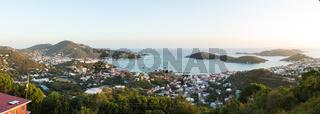 Sunset over Charlotte Amalie St Thomas