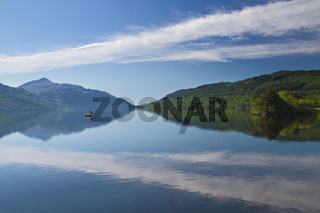 A lonely boat on Loch Lomond