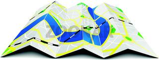 folded city map